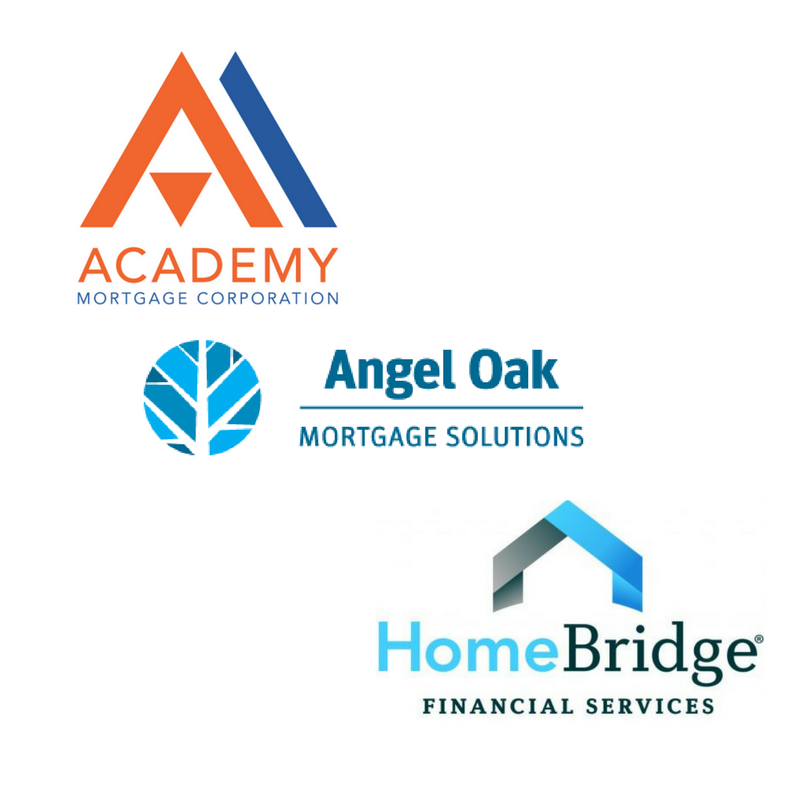 Academy Mortgage, Homebridge Financial & Angel Oak Mortgage