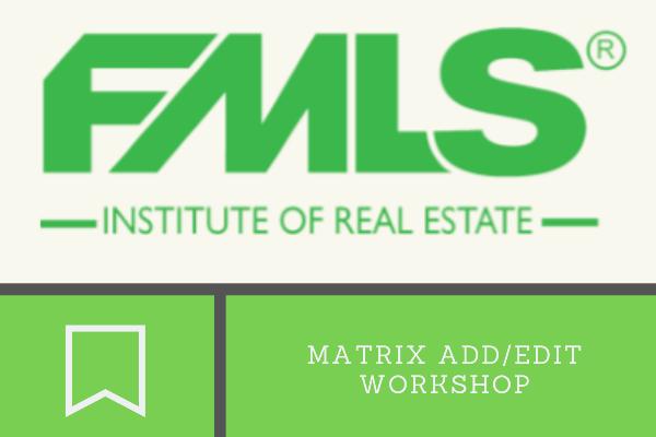 FMLS: Matrix Add/Edit Workshop