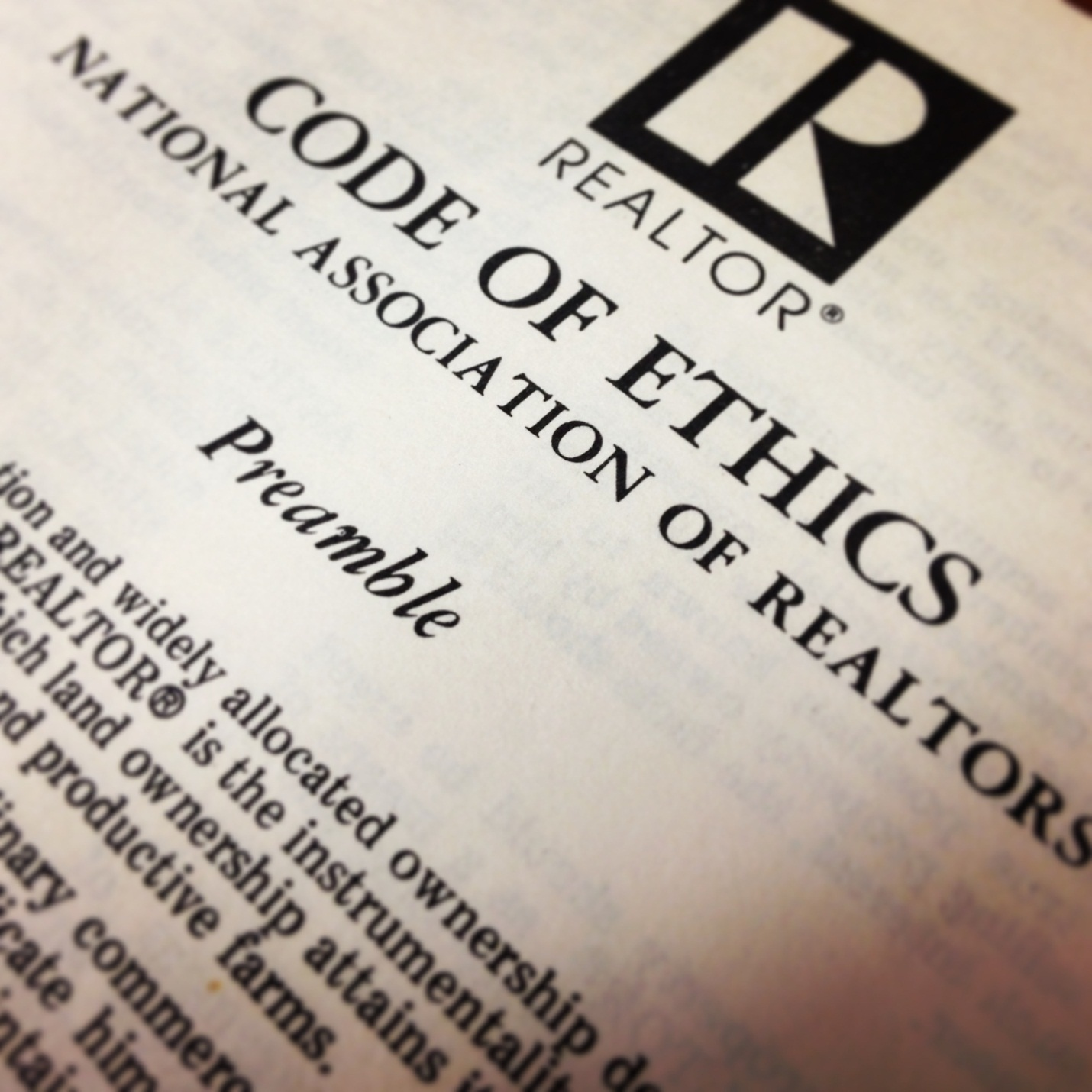REALTORS® Code of Ethics